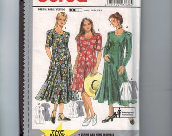 Misses Sewing Pattern Burda 3668 Misses Easy Loose Fitting Princess Seam Maternity Dress Size 10 12 14 16 18 20 UNCUT 1990s