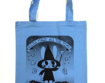 Magical Character Rabbit Tote bag BLUE