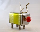 RALPH the REINDEER BOT, Assemblage Art Recycled Robot Sculpture, Perfect for Christmas