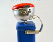 RESERVED for Jennifer: ROSIE the RIVETER, Assemblage Art Recycled Robot Sculpture