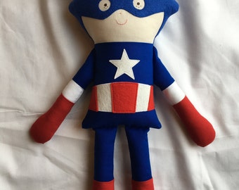 Captain America fabric doll, Avengers, Stuffed toy, Boy doll, Action Figure Doll, Super Hero