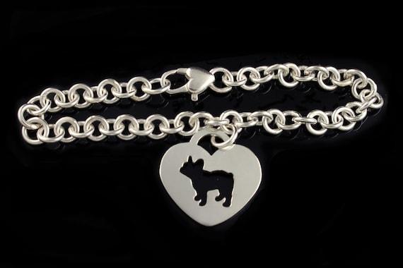 French Bulldog 'Frenchie' Linked Charm Bracelet