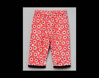 Poppy Pants - Woodland Baby - Baby Pink Pants - Flowers - Baby Pants - Girls Pants - Baby Girl Pants - Cotton - Nb - 6m - 12m- 18m