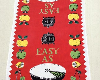 Vintage  Towel Easy as Pie