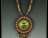 Swarovski Crystal, Bead Embroidered Necklace