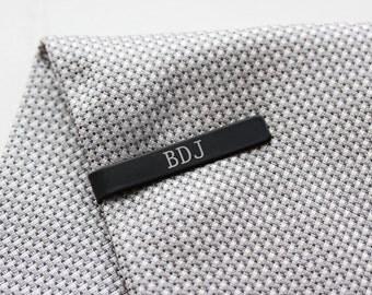 Groomsmen Gift Engraved Tie Clip - Custom Engraved Tie Bar Personalized Gift for Men Custom Tie Bar Engraved Tie Clip Gift for Dad Groom