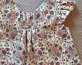 """BABY dress Pattern, DRESS or BLOUSE with panties, digital sewing pattern, sized to fit ages new born through 24 months, The """"Kailyn Pattern"""""""