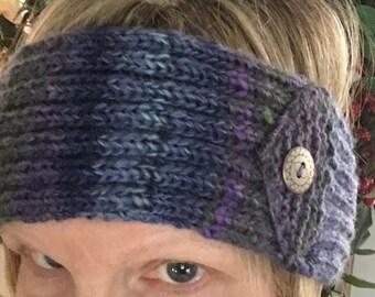 Hand knit Winter Headband