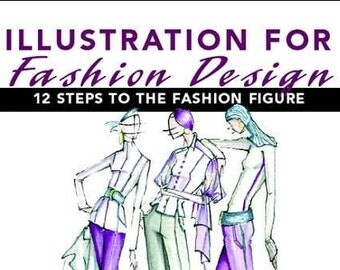 Illustration for Fashion Design: 12 Steps to the Fashion Figure, Fashion Illustration book like NEW condition, Fashion Book, Art Book