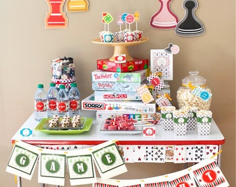 Family Game Night | Board Games PRINTABLE Party Collection - You Customize EDITABLE TEXT >> Instant Download | Paper and Cake