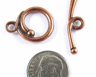 TierraCast Pewter-Copper RENAISSANCE TOGGLE CLASP (1 Set)