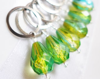 NEW - Soul of the Jade Pear  - Six Snag Free Stitch Markers - Fits Up To 10.0 mm (15 US) - Limited Edition