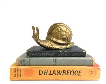 Mid Century Brass Snail~ Hollywood Regency Brass Snail ~Paper weight Desk Office decor ~ Woodland decor