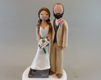 Short Bride & Tall Groom Customized Wedding Cake Topper