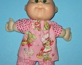 "Cabbage Patch Newborn Teeny Tiny Preemies  Doll Clothes Strawberry Shortcake Set  10 inch  Doll Clothes 12"" Newborn"