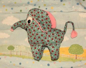 old fashioned soft toy elephant handmade by atticusfinchnz