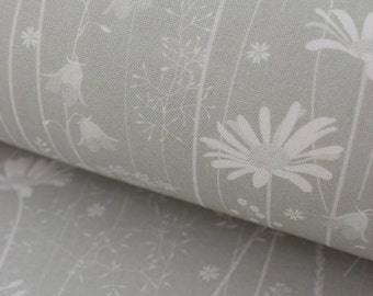 Daisy Meadow fabric in sage green