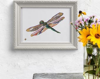Dragonfly // home decor// Art Print// boho // dragonfly art // wall art