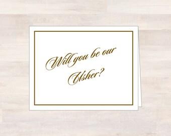 Will You Be Our USHER, Will You Be My Usher, Asking Usher Card, Ask Usher Card, Wedding Stationery, Wedding Note Card, Wedding Ushers