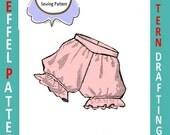 1950s-PANTIES-Shaped Yoke-Ruffle Leg-Soft Gathers-Pattern Drafting Design-All Sizes-Toddler-Adult-Plus-Pdf- FREE 1957 Sewing EBook
