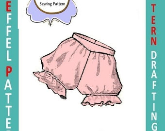 1950s-PANTIES-Shaped Yoke-Ruffle Leg-Soft Gathers-Pattern Drafting Design-All Sizes-Toddler-Adult-Plus-Pdf- FREE 1957 Sewing EBook