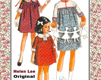 Vintage 1966 -Designer Smock Dress-Sewing Pattern-Featured Design for Betsy McCall Paper Doll- HELEN LEE ORIGINAL-Size 8-Rare-Collectible