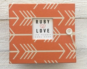 Orange Arrows Silhouette | BABY BOOK