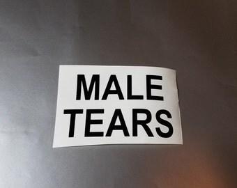 Male Tears Vinyl Decal