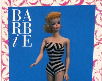 """Barbie Collectible Trading Card - """"First Barbie Doll"""" 1959 - Card No. 1 for Barbie collectors, dioramas, Barbie history"""