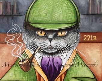 Cat Nightshirt, Sherlock Holmes, British Shorthair, Nightshirt, Cat