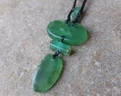 Vibrant green Chrysoprase macrame necklace - natural stone jewellery handmade in Australia - ethical sourced crystals