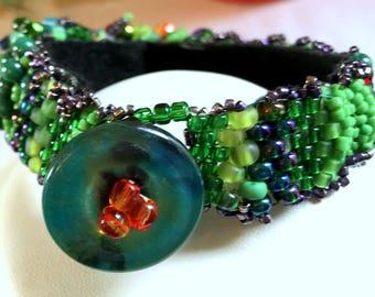 Free form peyote stitch bracelet