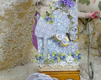 Shabby Mannequin Gift Tag Ornament