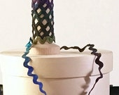 RICK RACK, Craft Ribbon, Textile Art, Ribbon Trim, Hand Dyed Rayon Ribbon, Ric Rac, Art Tag Ribbon, Scrapbooking, The Fiber Goddess