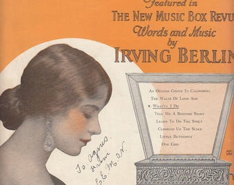 What'll I Do 1924 Sheet Music Irving Berlin Featured in New Music Box Revue