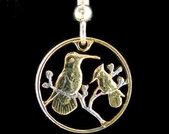 Cut Coin Jewelry - Earrings - British Virgin Islands - Hummingbirds