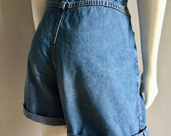 Vintage Women's 80's Lee, Jean Shorts, High Waisted, Denim (L)