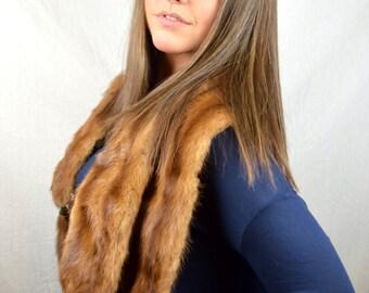 Vintage Mink Fur Collar Stole Pelt