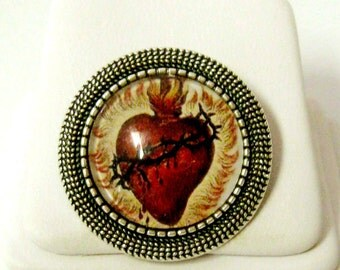 Sacred heart of Christ pin/brooch - BR09-011