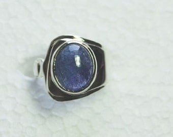 tanzanite sterling silver ring size 8.25