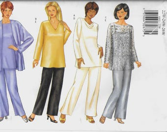 Butterick 6892 Very Easy Plus Size Women's Jacket, Top and Elastic Waist Pants Pattern