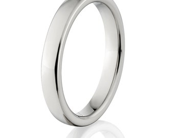 New 4mm Comfort Fit, Custom Titanium Ring: 4HR-P