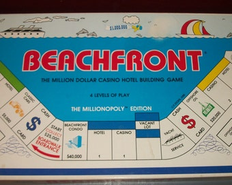 Vintage Beachfront Board Game Monopoly Style