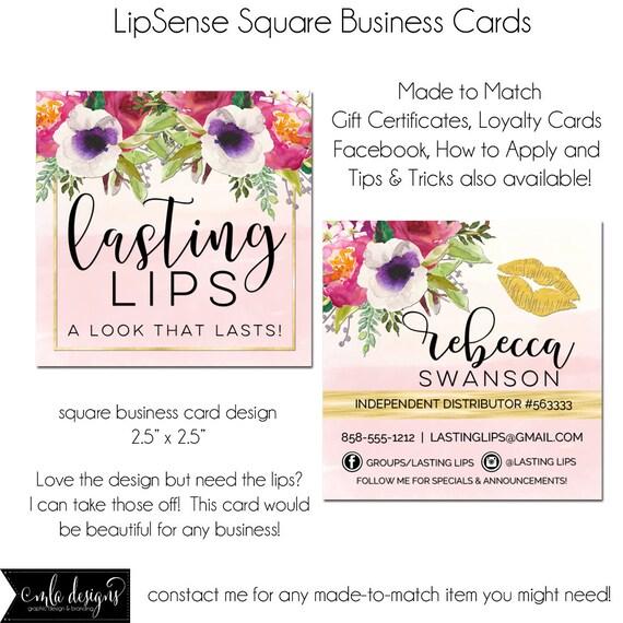 lipsense business cards loyalty card business card design