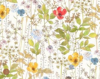 Flower Garden, Irma, Liberty Tana Lawn Fabric, Liberty of London, Liberty Japan, Cotton Print Scrap, Floral Patchwork Quilt Fabric, kt3182c