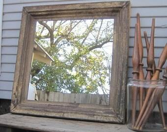 Vintage Ceiling Tin Wall Mirror. Architectural salvage. Large Rustic mirror. Industrial mirror. Bathroom mirror.  Tin tile mirror.