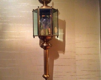 Dramatic Vintage 1970's Indoor/Outdoor Lantern Sconce Light NOS New