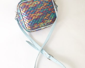 Amber Large Crossbody Faux Leather Bag (Handmade to order)
