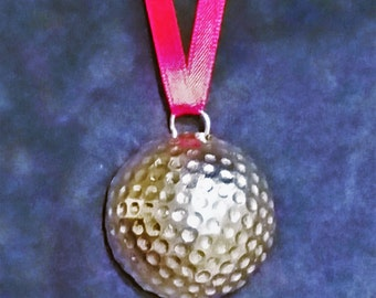 Golf Ball Pewter Ornament