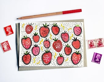 Fruity Strawberries Card